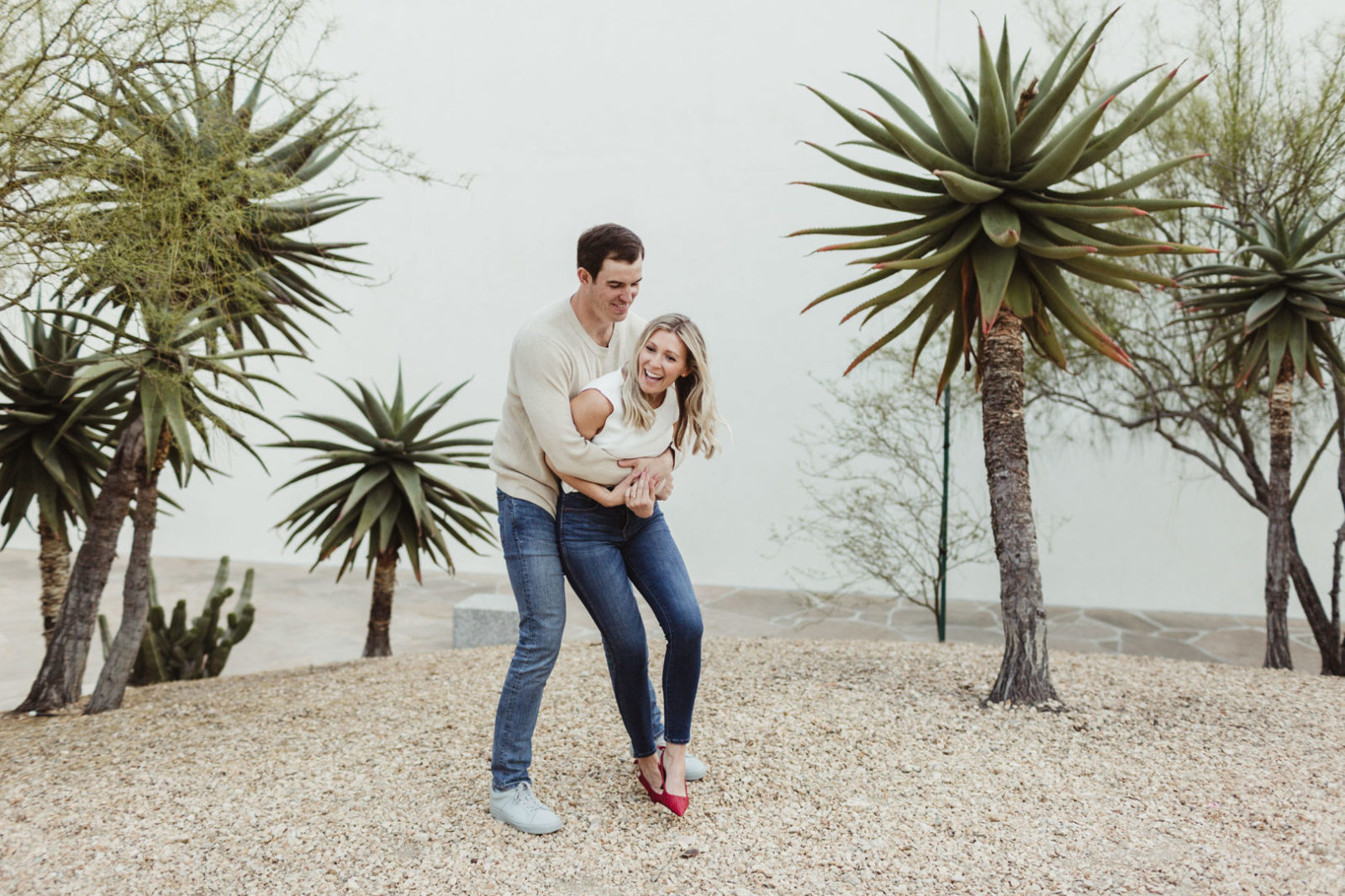 Noguchi Garden and Crystal Cove engagement session